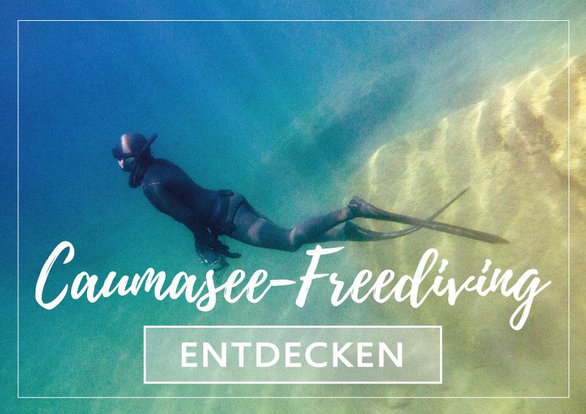 Freediver im Caumasee