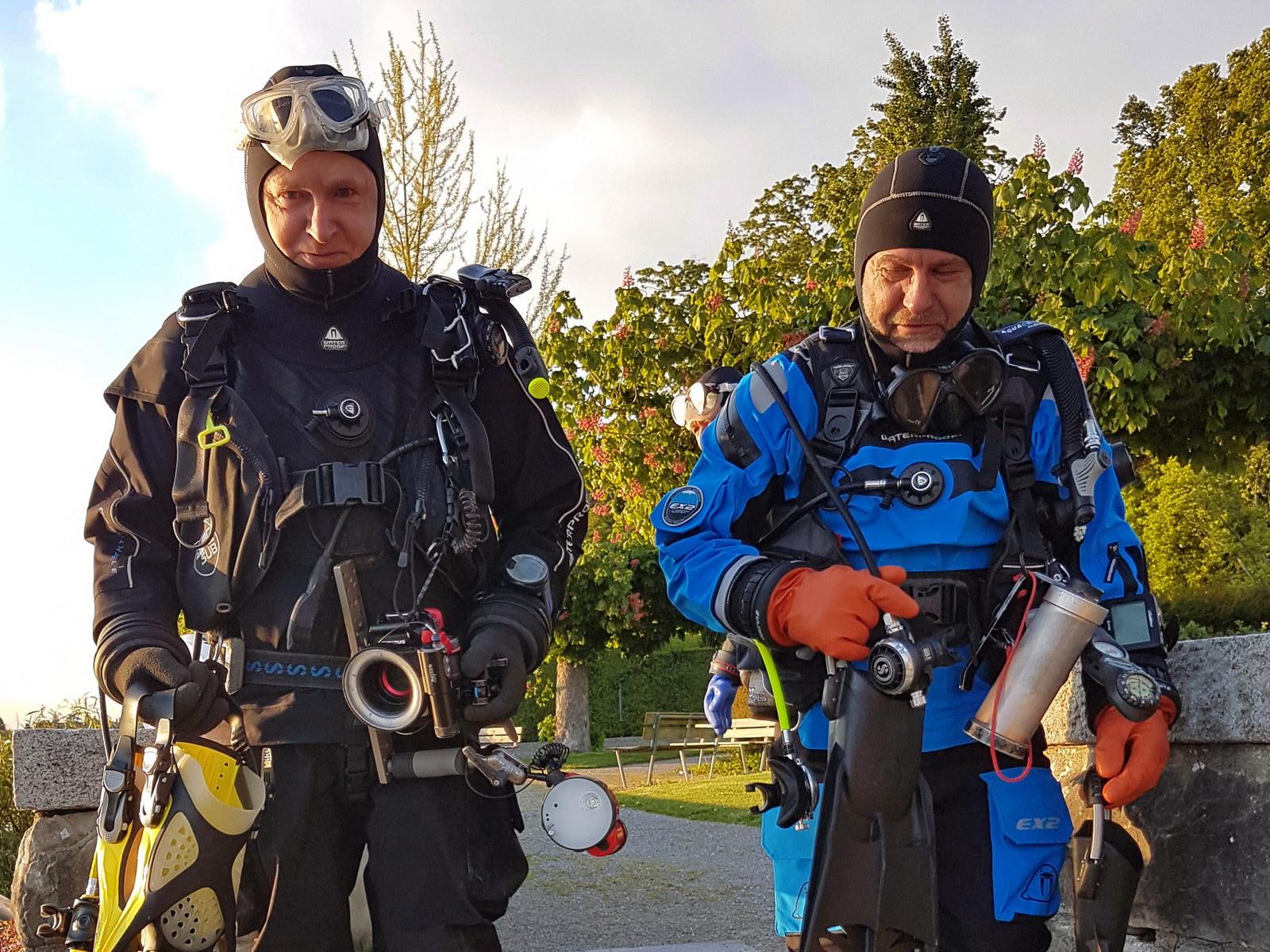 Dry Suit Diver fertig ausgerüstet