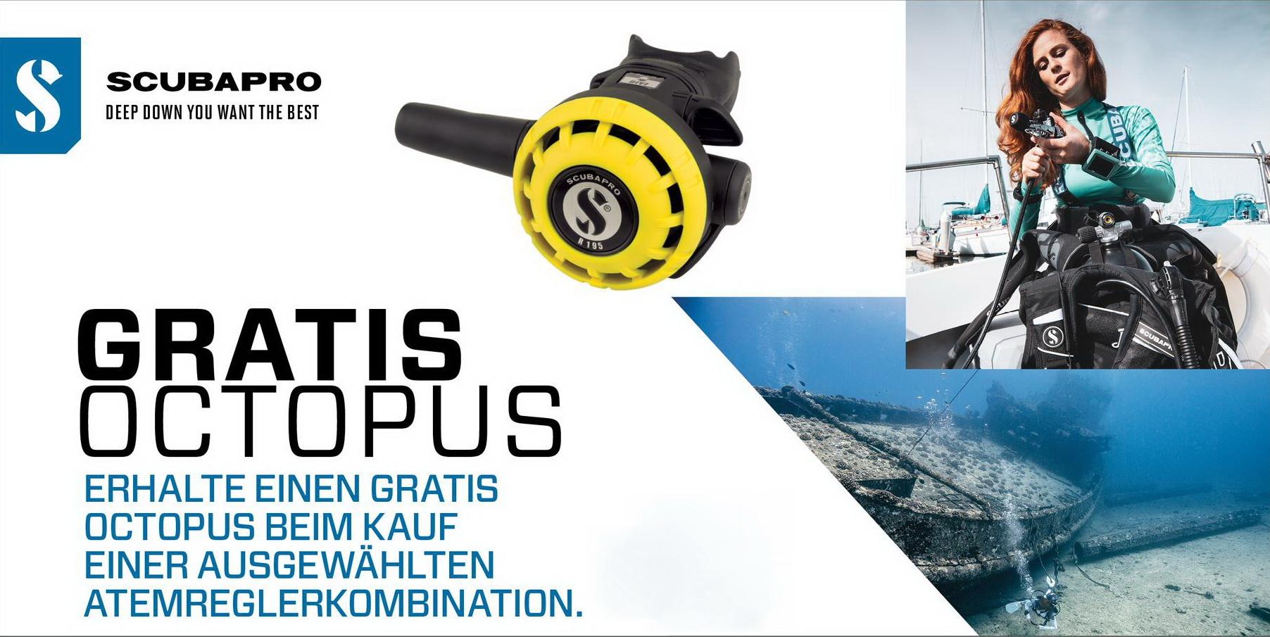 Scubapro gratis Octopus R190 Promo