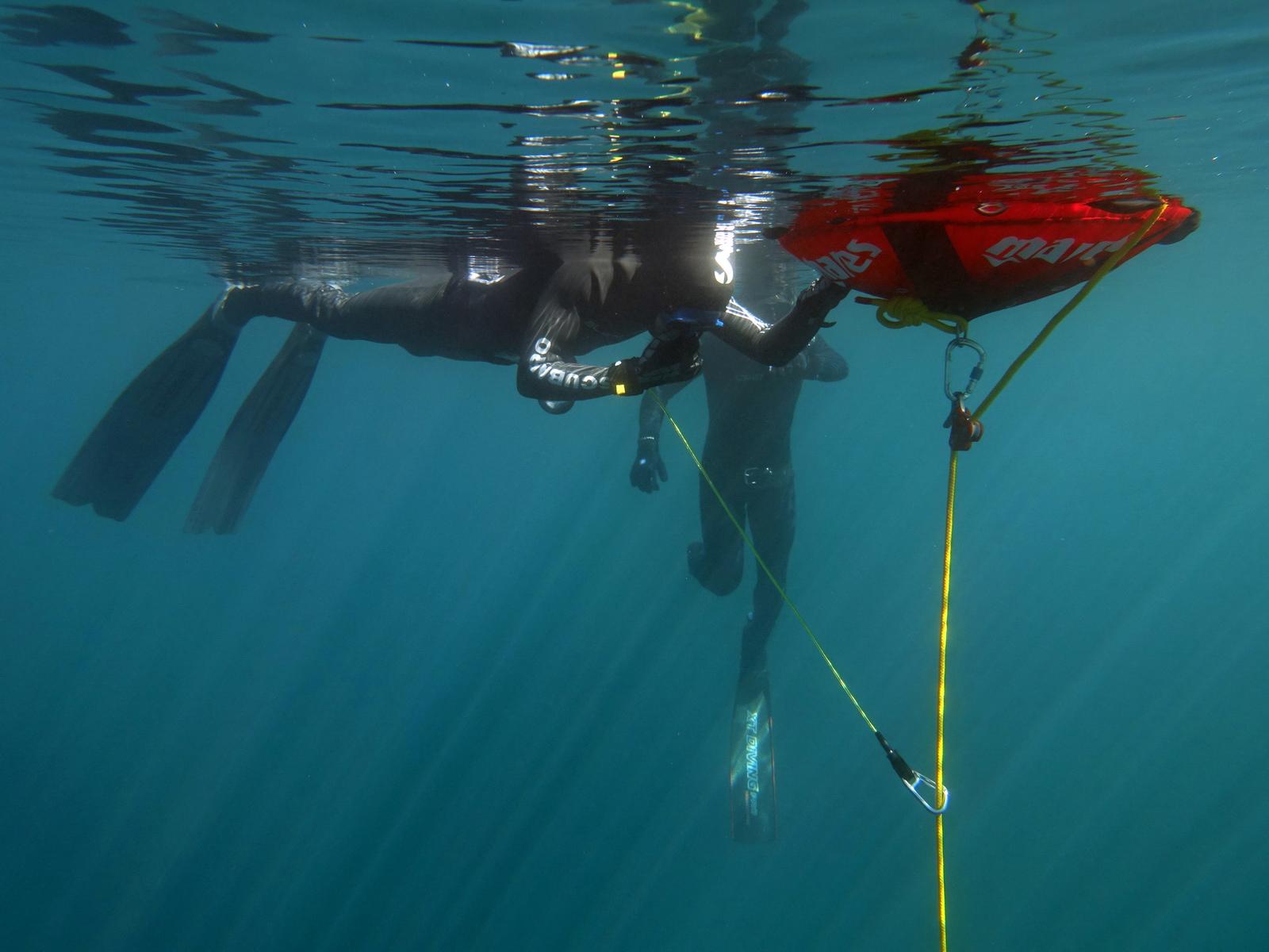 Freediver vor dem Apnoetauchgang