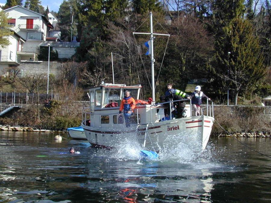 Herbst 2021   Bootstauchen & Fondue   Halbinsel Au   Zürichsee