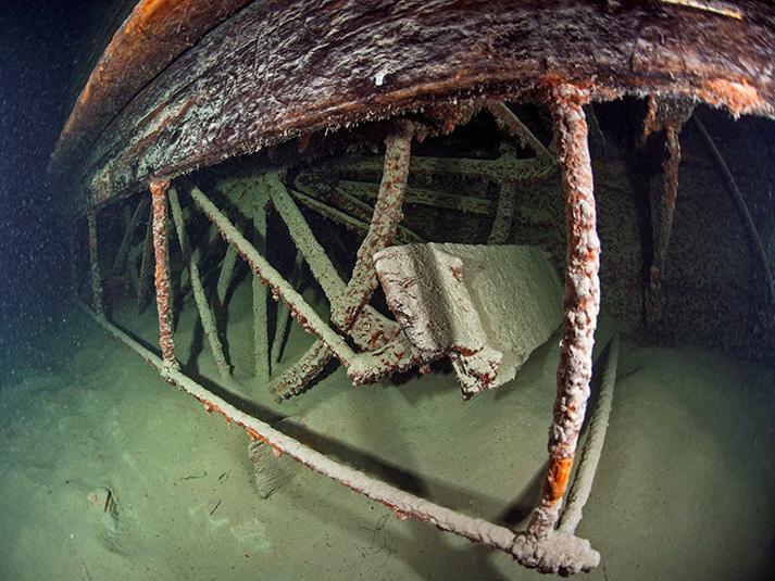 Wrack des Dampfschiff Jura