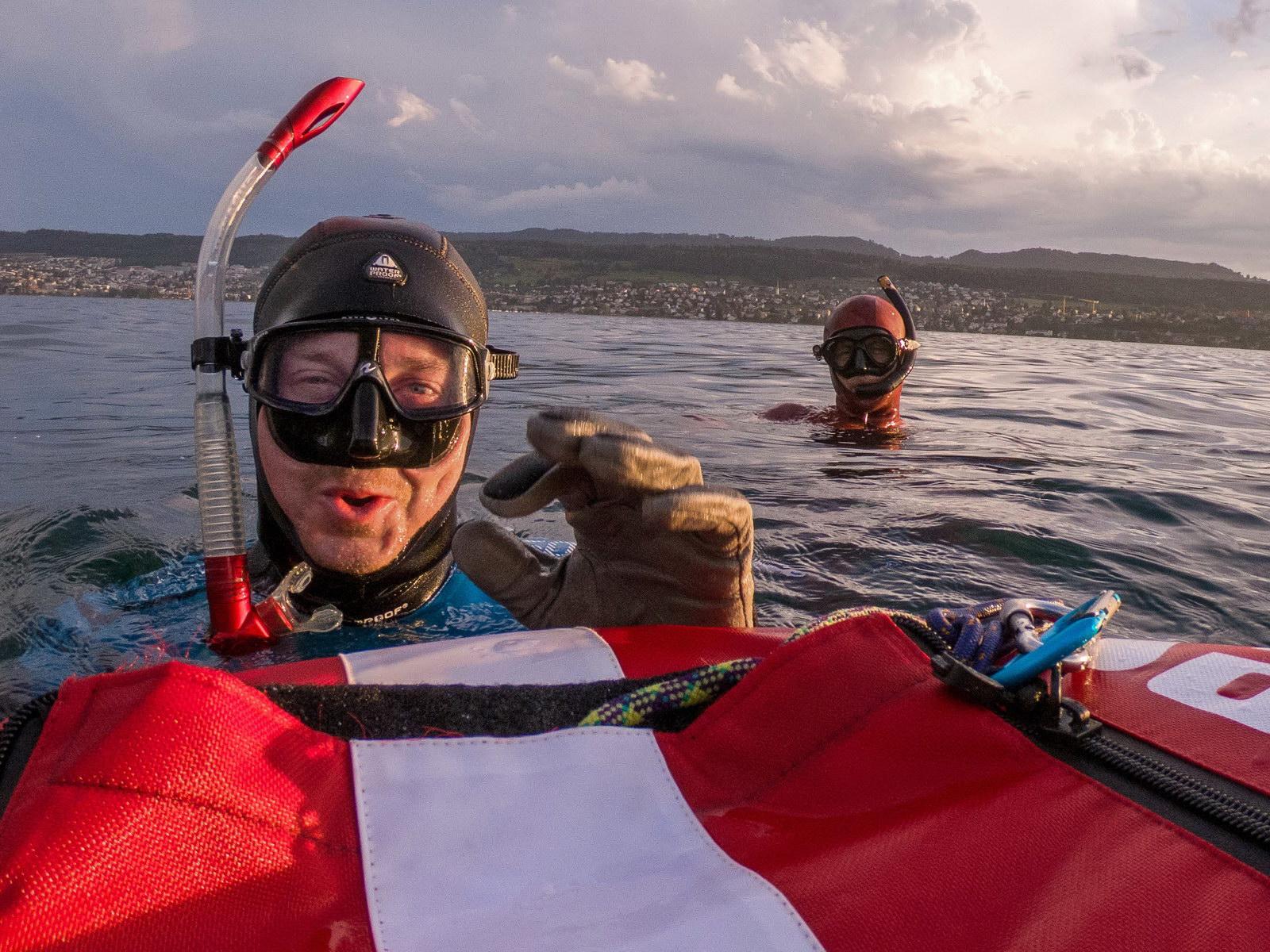 Tief einatmen vor dem Freediving