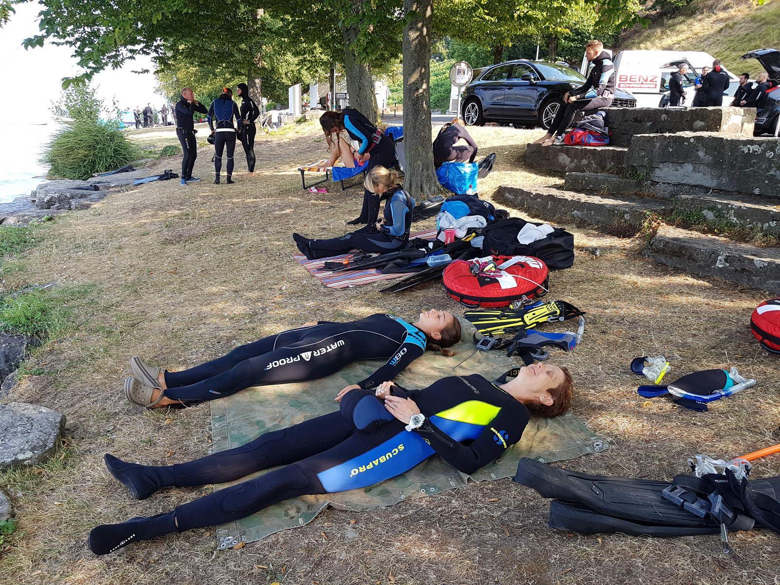 PADI Freediver bei der Entspannung