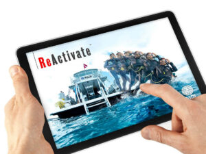 Tablet mit dem PAD Reactivate Login