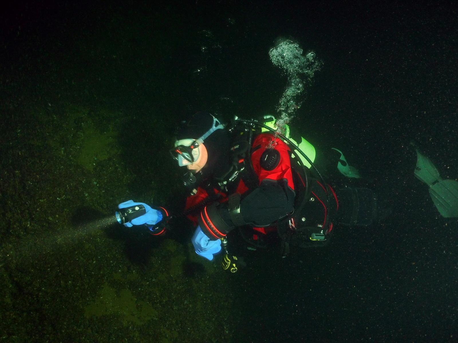 PADI Deep Diver an einer Steilwand