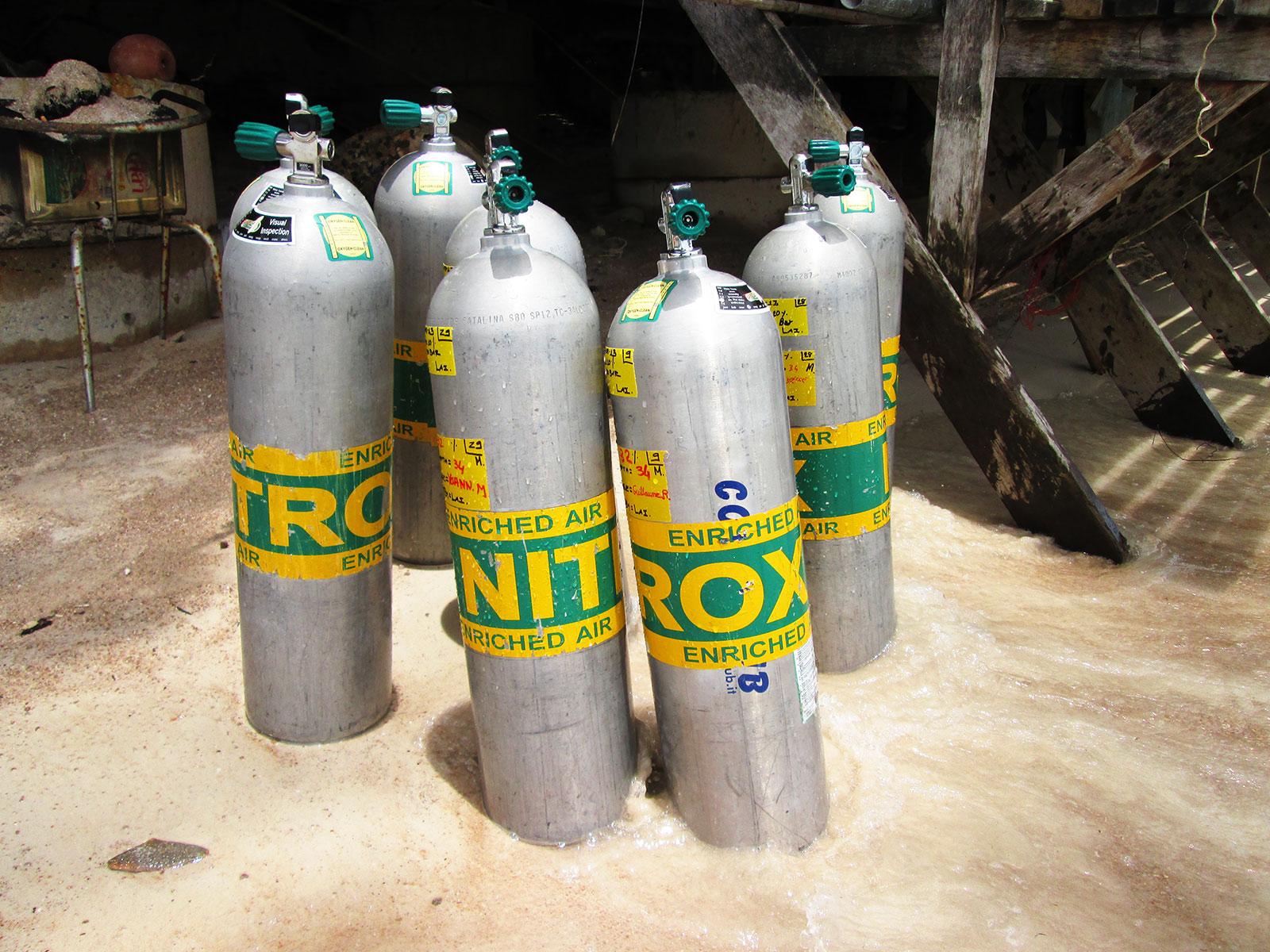 Nitrox Tauchflaschen für den Tauchkurs