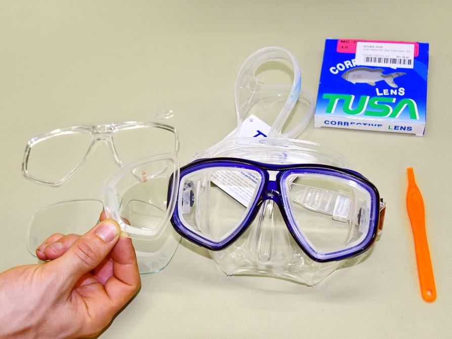 Optische Glas für Tauchbrille