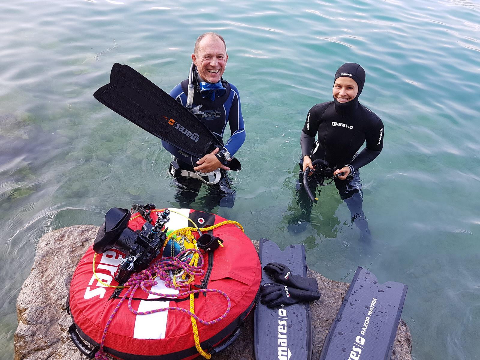Freediving Ausrüstung aus der Vermietung