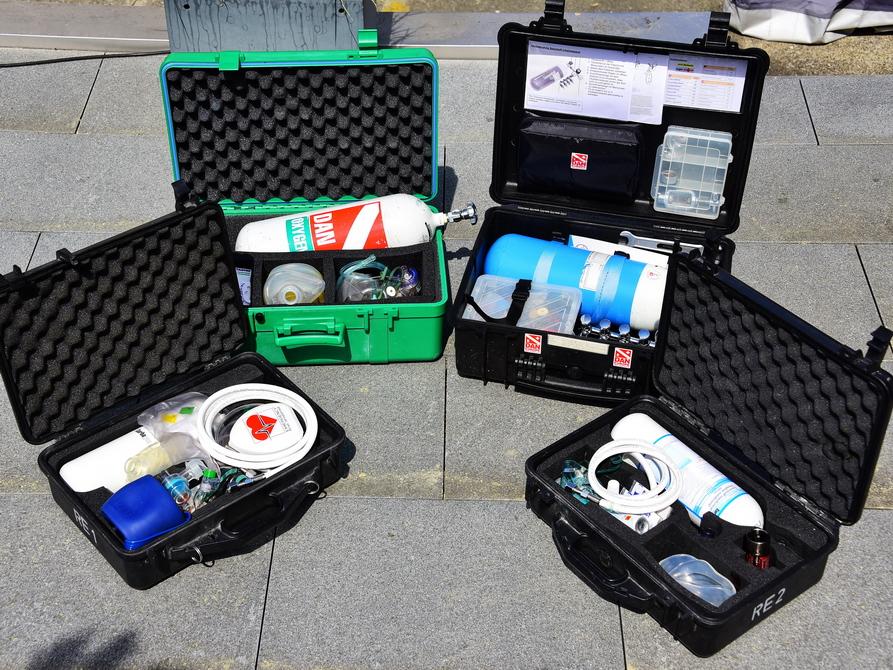 Verschiedene Notfall Ausrüstung für Miete